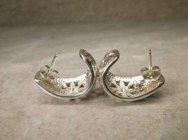 Gorgeous Heavy Sterling Silver Earrings - 2