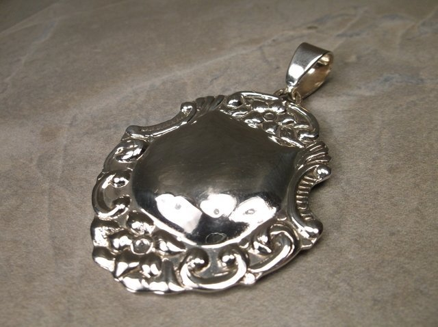 Gorgeous Large Taxco Sterling Pendant TC 212