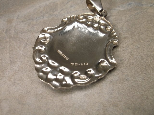 Gorgeous Large Taxco Sterling Pendant TC 212 - 2
