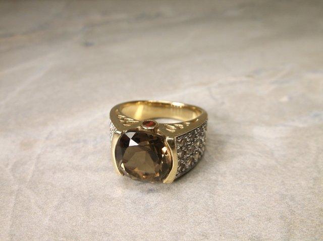 Gorgeous Gold Over Sterling Ring 6