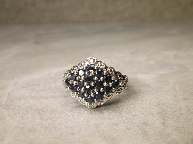 Stunning Sterling Silver Sapphire Ring 6