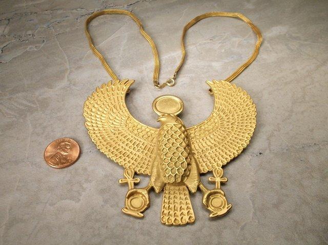 Incredible Vint MMA 12kt GF Falcon Necklace