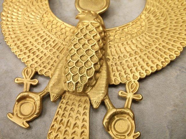 Incredible Vint MMA 12kt GF Falcon Necklace - 2