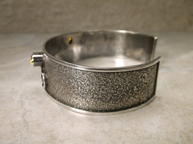Stunning Mcordor Sterling Peridot Cuff Bracelet - 2