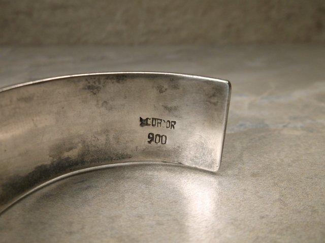 Stunning Mcordor Sterling Peridot Cuff Bracelet - 4