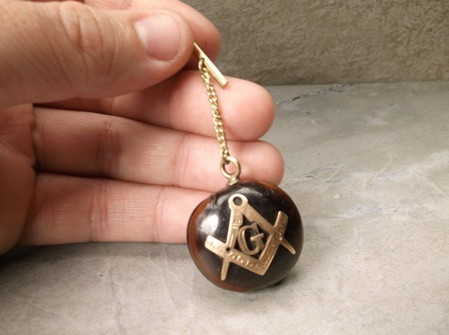 Antique 10kt Gold Masonic Mason Buckeye