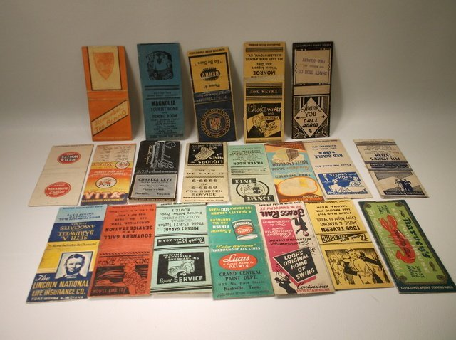 20 1930s-50s Rare Antique Matchbook Covers