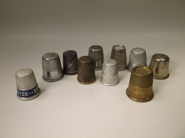 Lot of Antique Sewing Thimbles