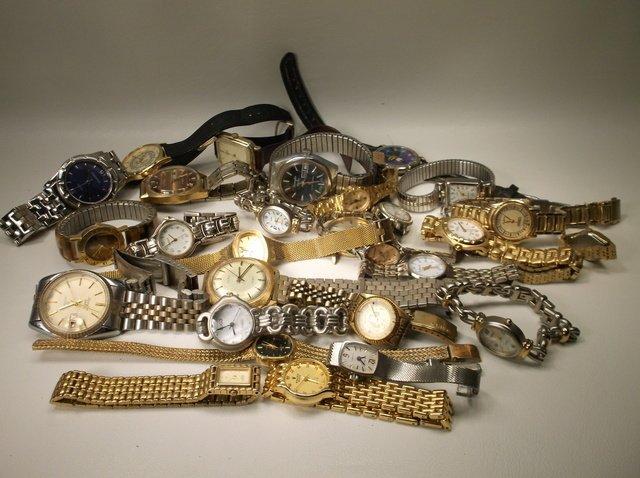 Huge Wristwatch Lot Gruen Citizen Seiko More