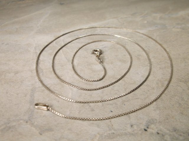 """Gorgeous Sterling Silver Chain Necklace 21"""""""