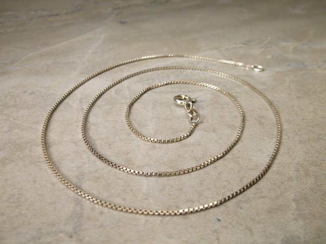 """Gorgeous Sterling Silver Chain Necklace 19"""""""