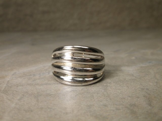 Sterling Silver 4 Line Ring 7