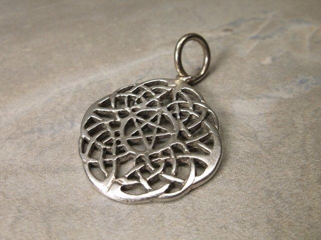Heavy Sterling Silver Keltic Star Pendant