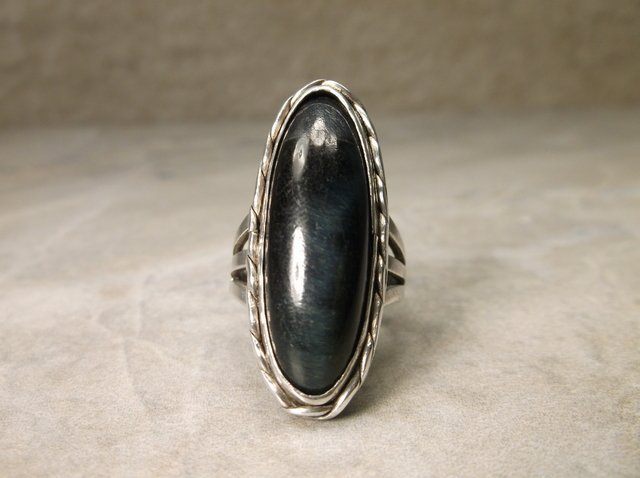 Gorgeous Navajo Sterling Labradorite Ring 5