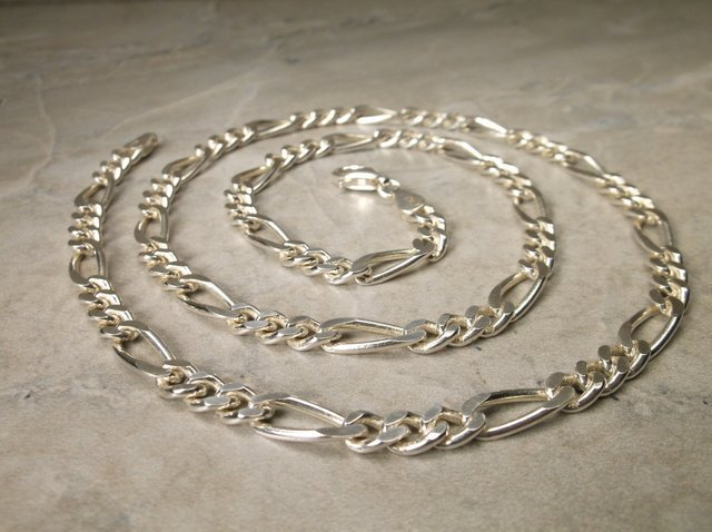 Gorgeous Sup Heavy Sterling Chain Necklace 22""