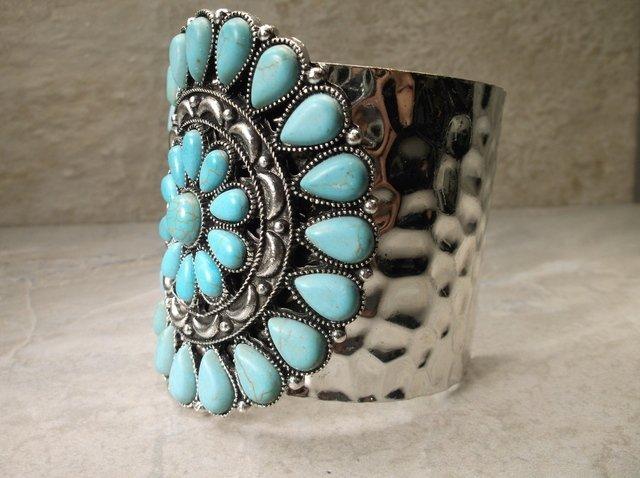 Gorgeous Huge Southwestern Squash Cuff Bracelet - 2