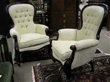 2121 Chippendale style fireside chairs
