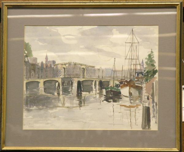 6: Watercolor Jan den Hengst Dutch