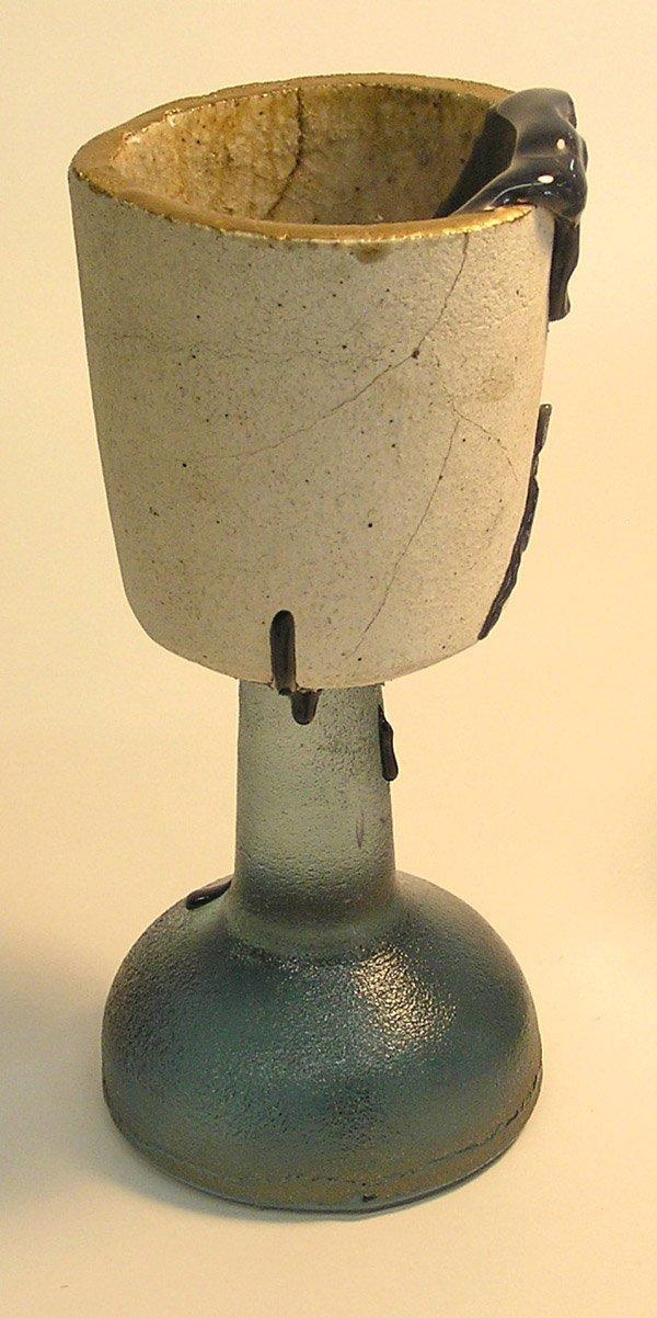 21: Mid-century studio glass chalice