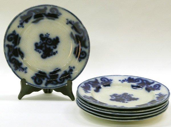 2008: English Flow Blue Ironstone Plates
