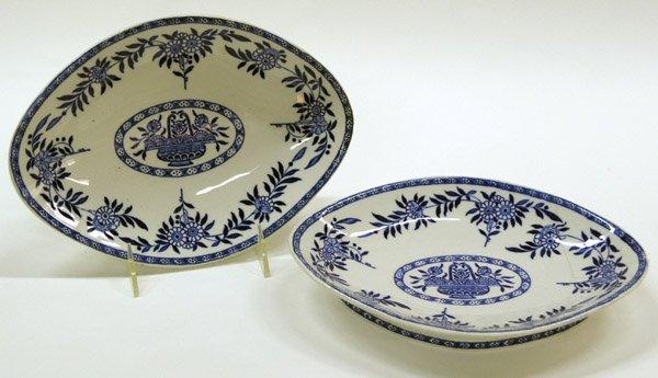 2010: British Ironstone Blue, White Dishes