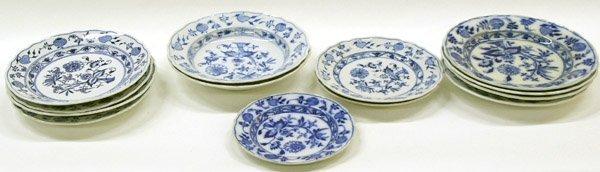 2014: Meissen ''Onion'' Porcelain Plates, Bowl