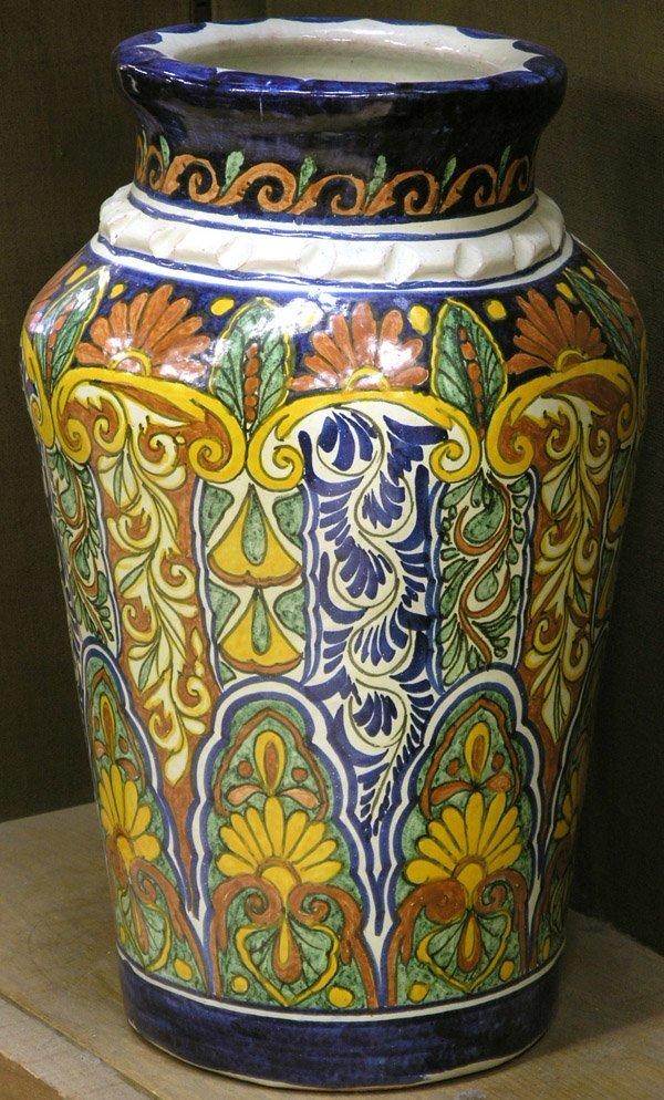 2020: Mexican Pueblo Polychrome Faience Urn