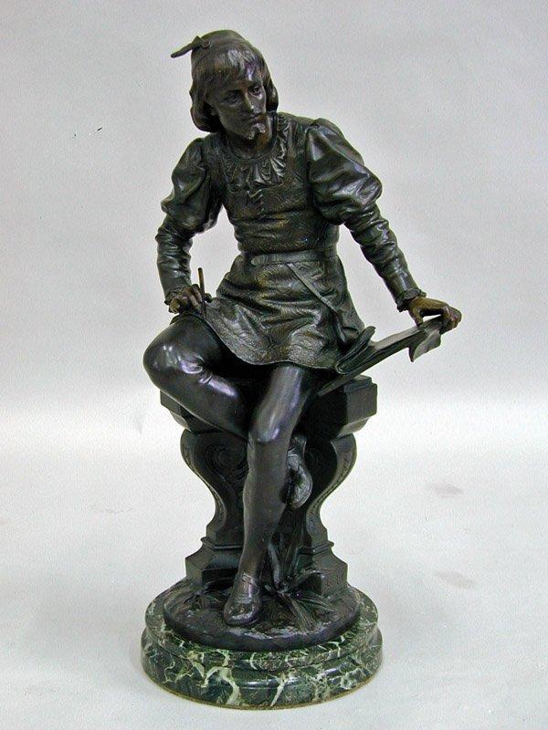 2021: Bronze Patinated Poet Statue, Bouret