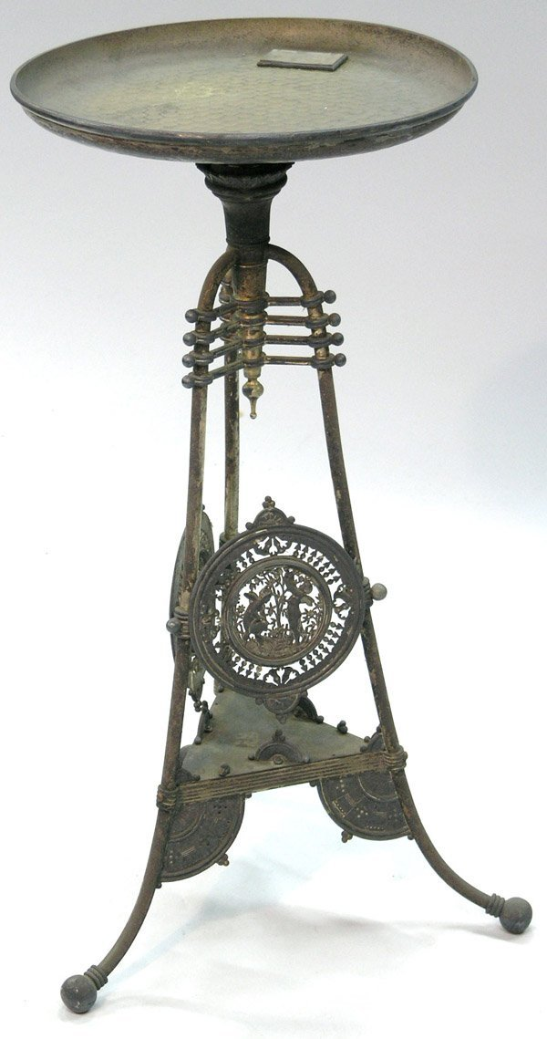 2195: Victorian Metal Tripod, Dish Stand
