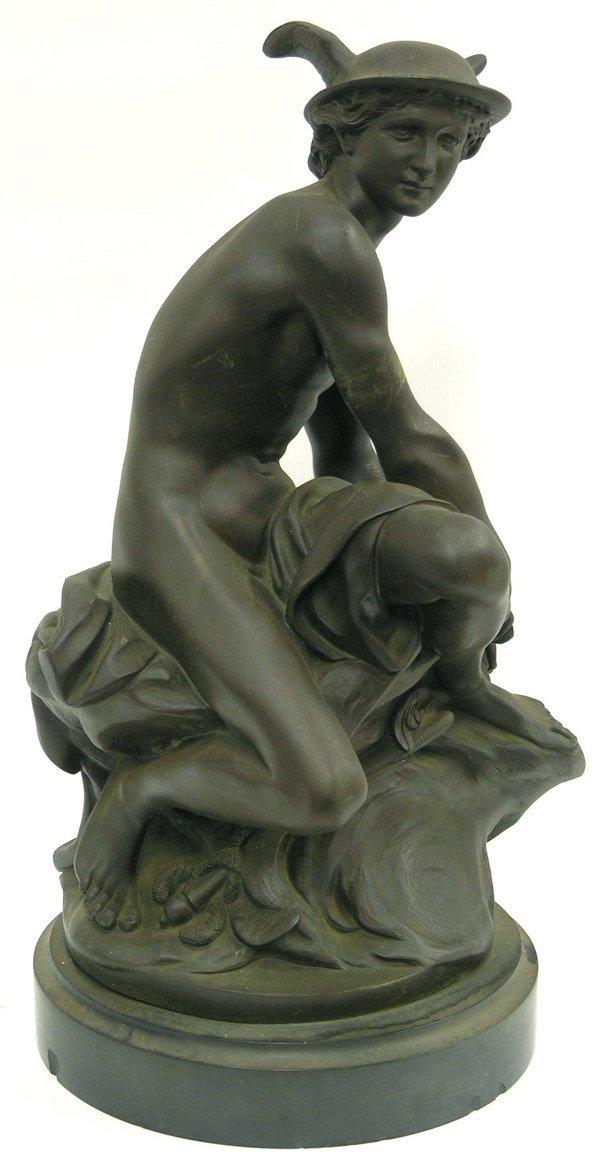 2213: Bronze Patinated Metal Statue, Mercury
