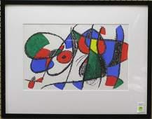 2332 Lithograph Joan Miro Spanish