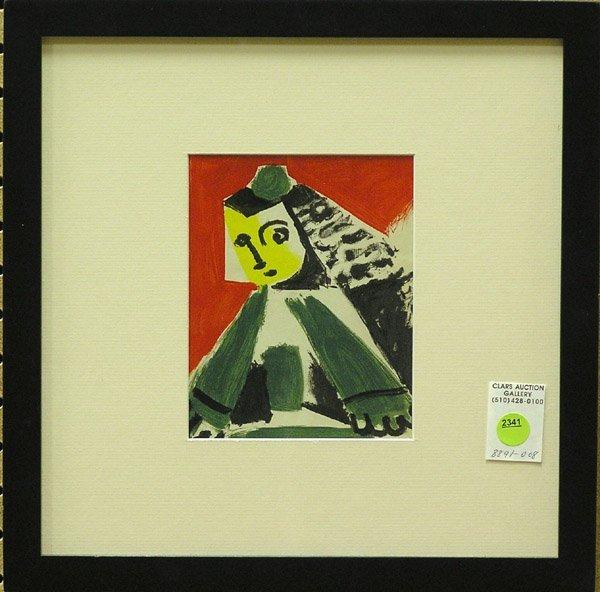 2341: Lithograph Pablo Picasso Spanish