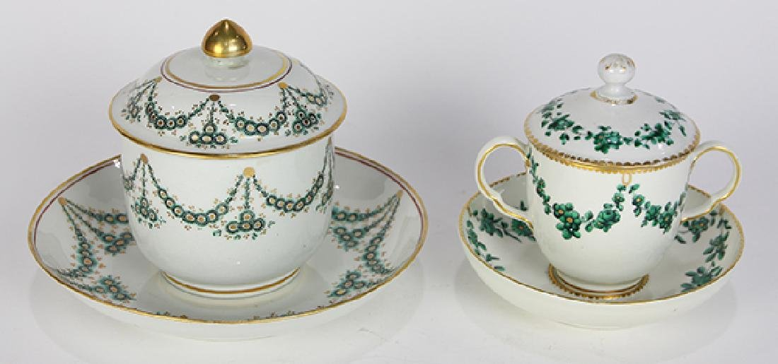 (lot of 2) English porcelain group, consisting of a New