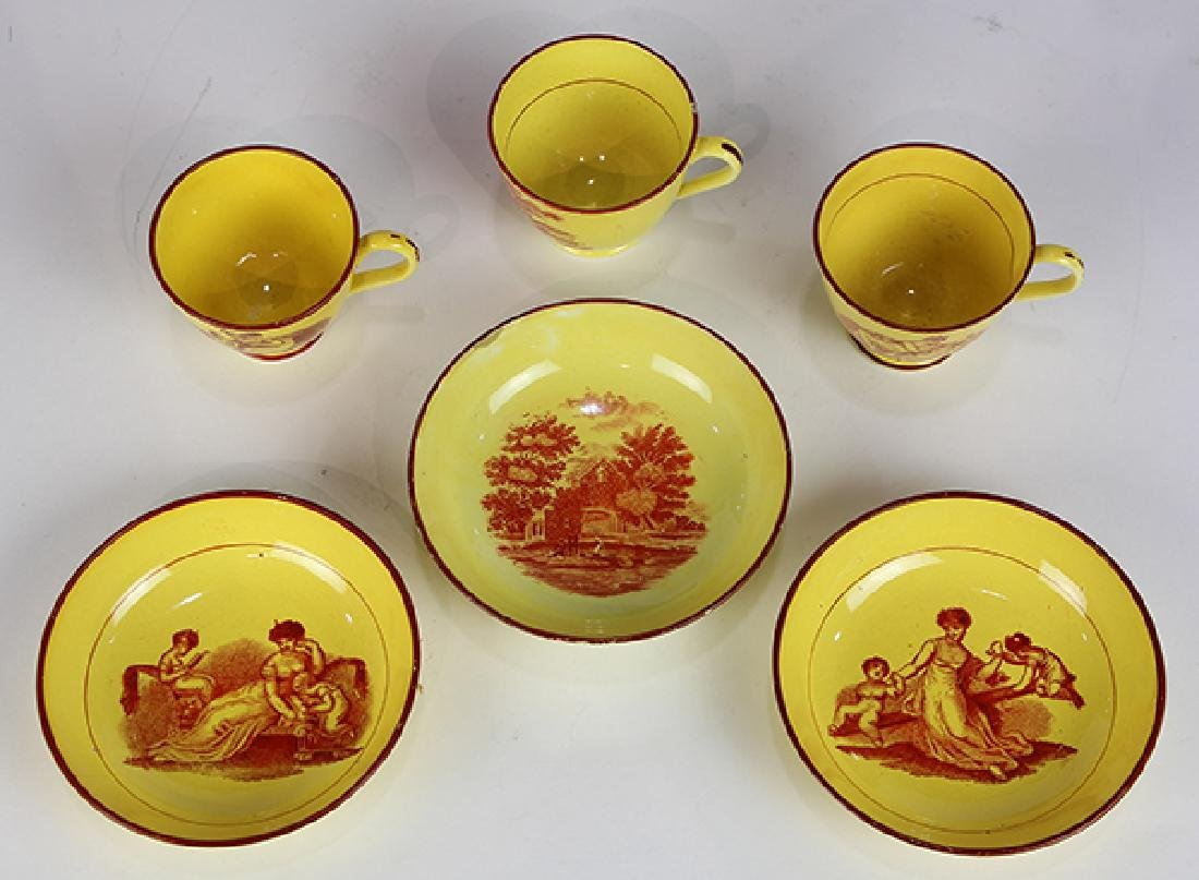(lot of 6) Group of English tea cups and saucers, each - 3