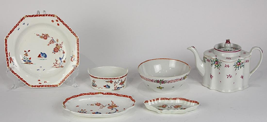 (lot of 6) English 18th century porcelain group,