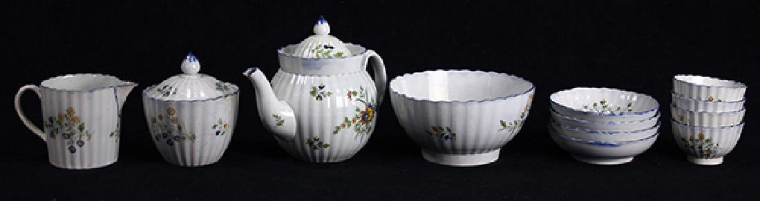 (Lot of 12) English Staffordshire pearlware partial