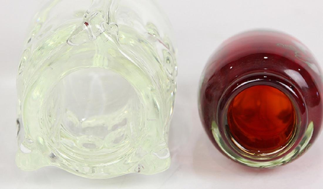 (lot of 2) Lundberg Studios art glass group - 3