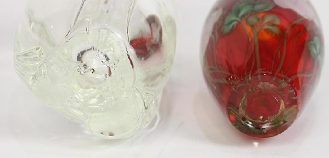 (lot of 2) Lundberg Studios art glass group - 4