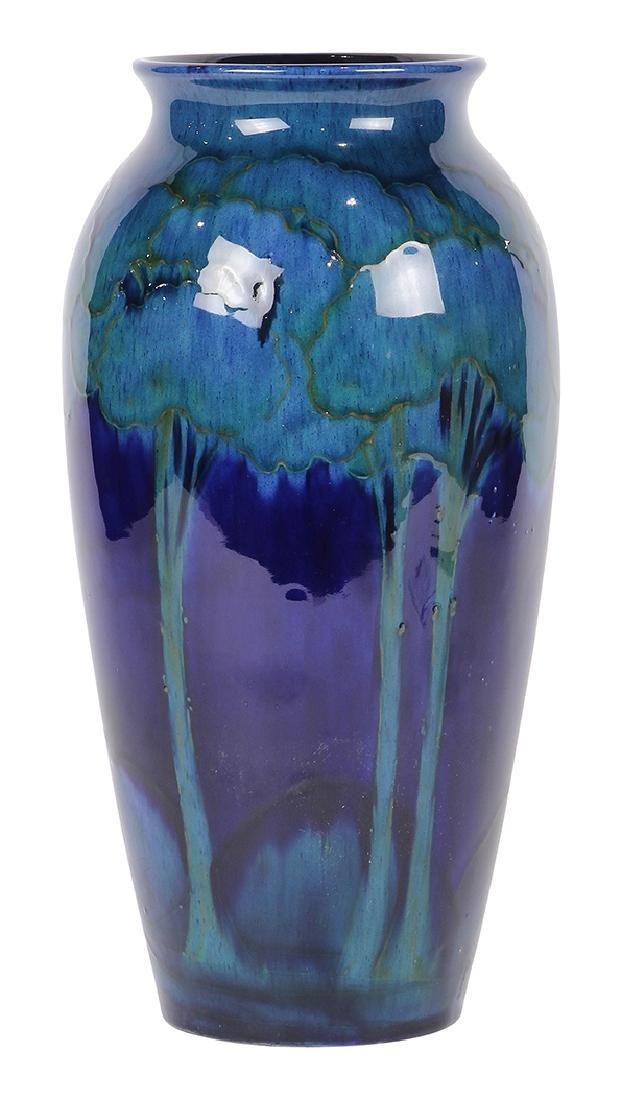 Moorcroft 'Moonlit' pottery vase circa 1925