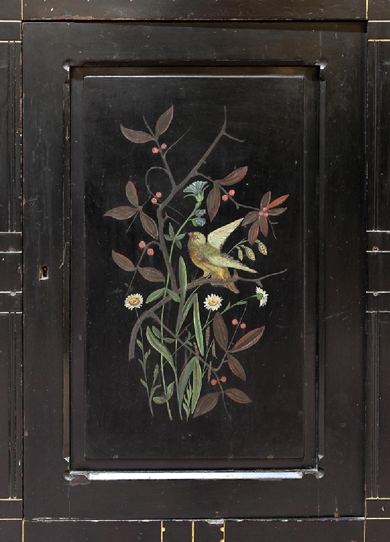 Aesthetic Movement ebonized cabinet circa 1890, the top - 5