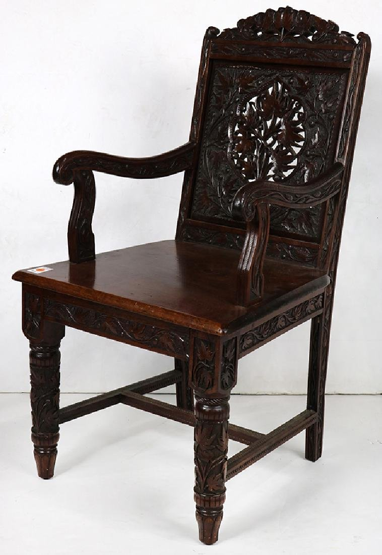 Cincinnati Art Carved Aesthetic Movement armchair circa