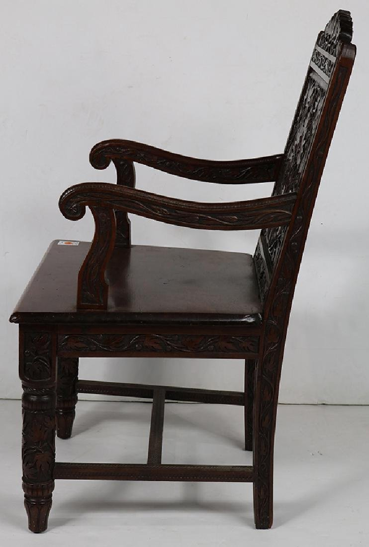 Cincinnati Art Carved Aesthetic Movement armchair circa - 2