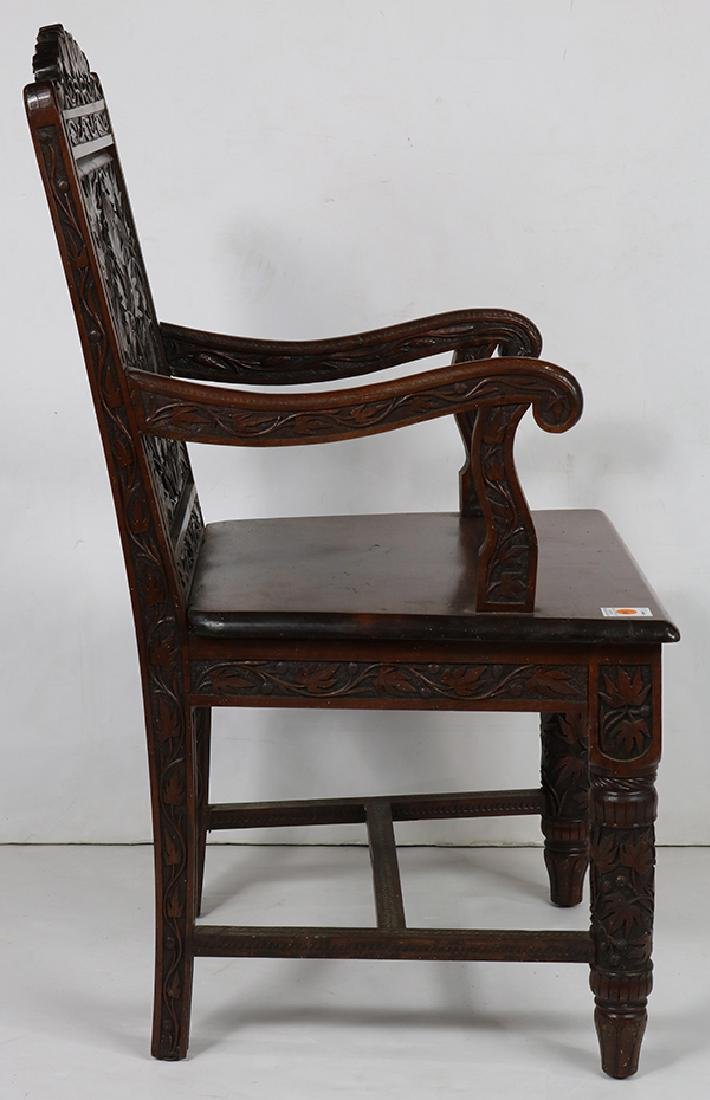 Cincinnati Art Carved Aesthetic Movement armchair circa - 4
