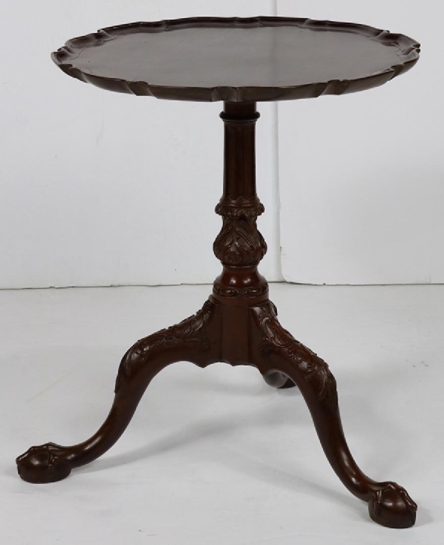 English mahogany tripod tea table, first quarter 20th