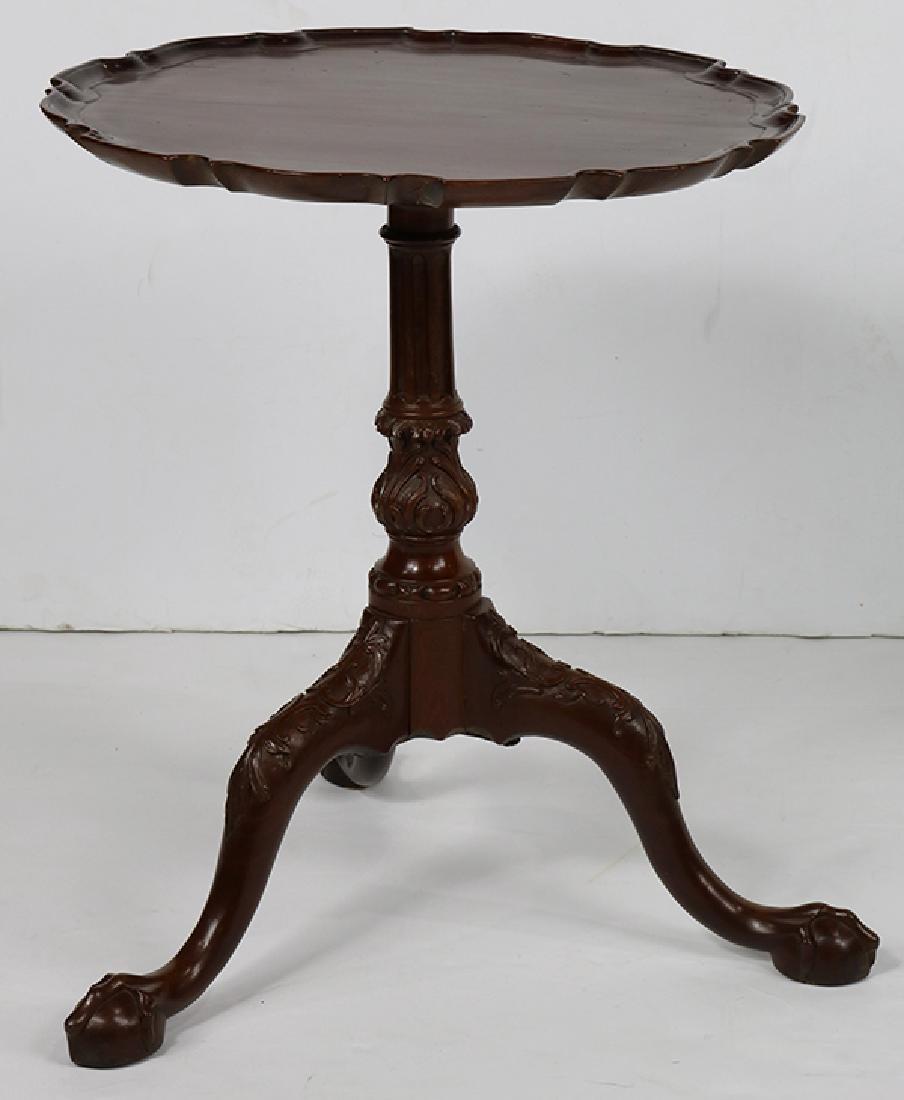English mahogany tripod tea table, first quarter 20th - 2