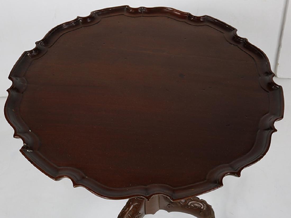 English mahogany tripod tea table, first quarter 20th - 3