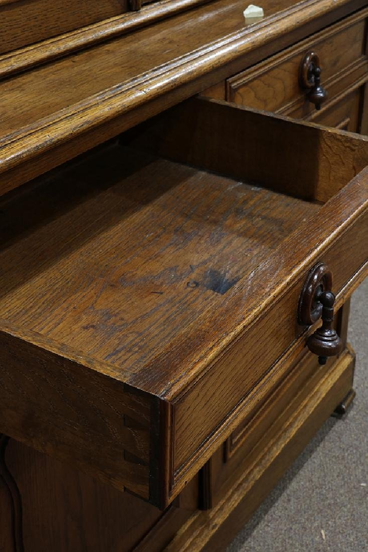 French oak sideboard circa 1860, the arched cornice - 3