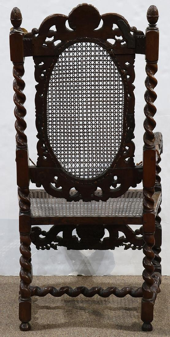 English walnut armchair circa 1680, the highly carved - 3