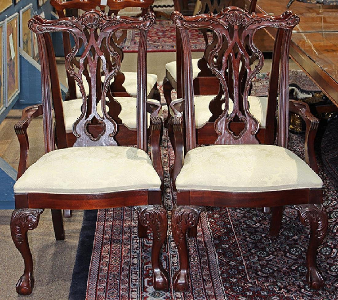 (lot of 6) Chippendale style mahogany dining chairs - 2