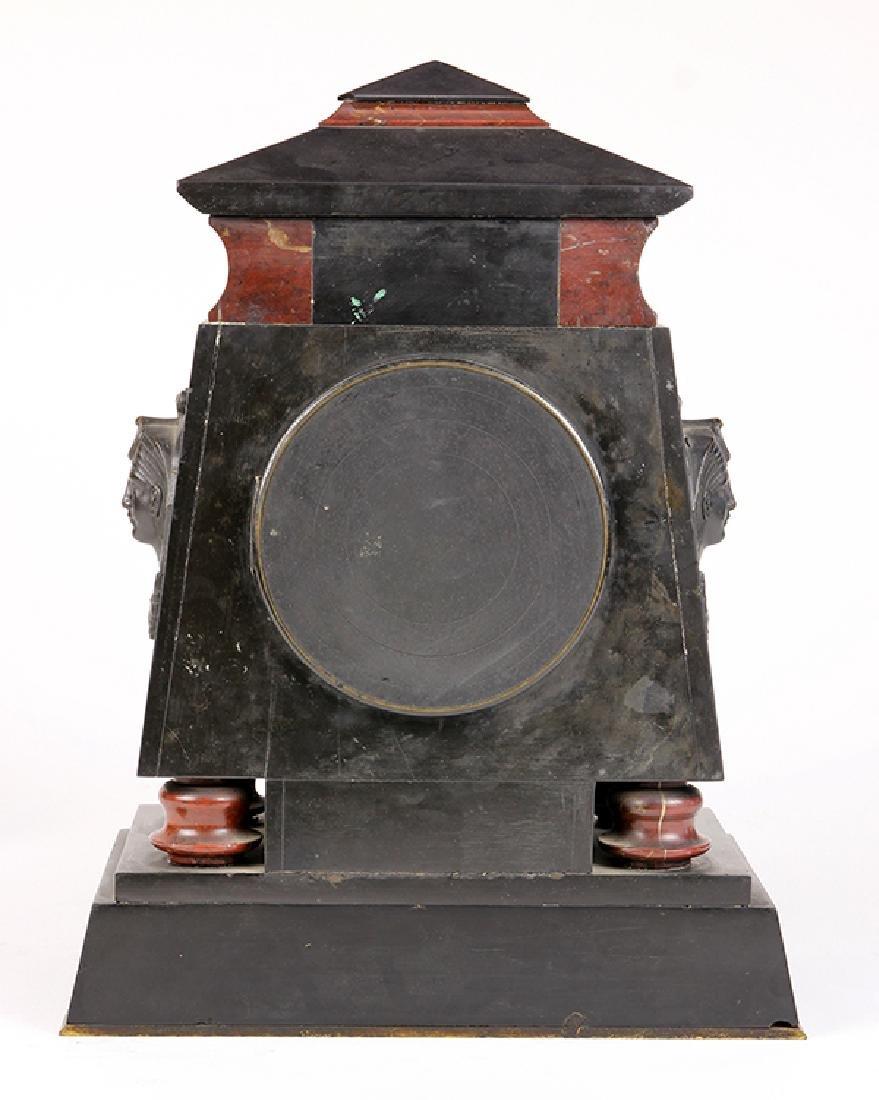Egyptian Revival marble mantle clock circa 1860 - 4